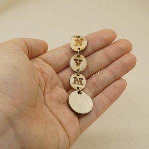 Jewelry - Words Laser Cut NVM Wood Dangle Earrings